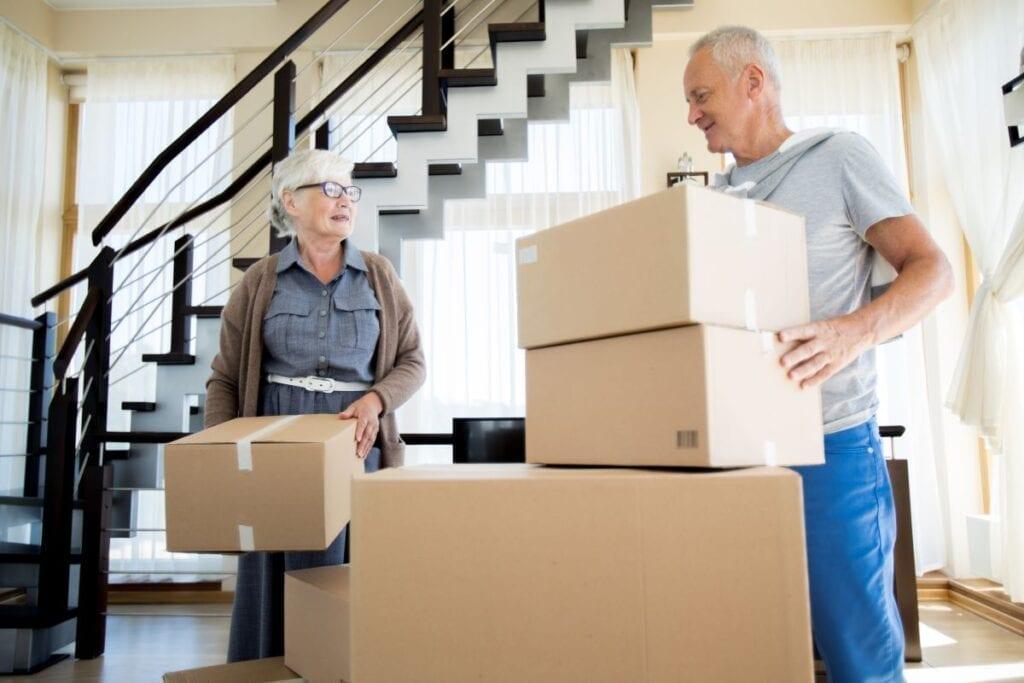 Elderly person move house